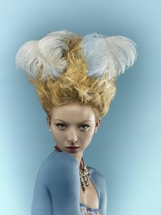 I LOVE the feathers! (MARIE ANTOINETTE by Verity Griffiths, via Behance)