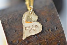 Dainty Personalized Gold Heart Necklace