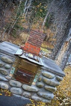 Outdoor Wood Burning Stove by Shawn John Outdoor Cooking Stove, Outdoor Oven, Outside Living, Outdoor Living, Outdoor Garden Rooms, Cooking Beets, Diy Fire Pit, Camping Stove, The Ranch