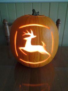 John Deere pumpkin carving