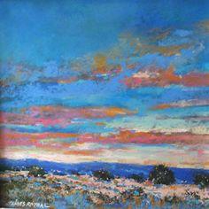 evening seranade 12x12 pastel by James Roybal Pastel ~  x