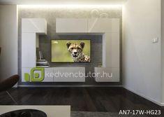 Modern nappali bútor NEXT AN7-17W-HG23-1BA Modern nappali bútor NEXT AN7 egy falra szerelhető bútor szett, amiben elegánsan tárolhatjuk kikapcsolódásunk kellékeit. 35 cm-es mélysége miatt nem foglal el jelentős helyet a szobából.Magasfényű felülete miatt szép kontrasztot ad egy egyszerű festett falfelülettel, vagy tapétávalMéretek: 272 x 187 x 35 cmSzínválaszték:magasfényű fehérLengyel bútor. Garancia 12 hónapKedves Vásárló!FONTOS INFORMÁCIÓ!Felhívjuk szíves figyelmét, hogy a w Flat Screen, Blood Plasma, Flatscreen, Dish Display