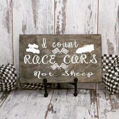 Racing Nursery Decor I Count Race Cars Not Sheep Wood Sign Child's Room Decor Baby Shower Gift, Racing Decor – Decoration ideas