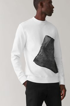 Latest Clothes For Men, Large Prints, Casual Looks, Knitwear, Cos, Grey Jumpers, Menswear, Style Inspiration, Mens Fashion