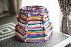 DIY: scrap fabric shade