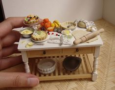 Miniature Food - Fruit Tart Preparation #1 by PetitPlat - Stephanie Kilgast, via Flickr