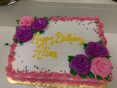 #cake #roses #birthday #sheetcake
