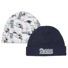 NFL New England Patriots Infant Cap Set, Pack of 2  Made of 100% cotton interlock for softness  Caps are designed to keep head warm and feature an adjustable roll cuff for a perfect fit  Machine wash and tumble dry  100 % Cotton Interlock