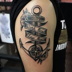 cool 60 Masterful Pirate Tattoo Ideas - Rulers of the Seas Check more at http://stylemann.com/best-pirate-tattoo-ideas/