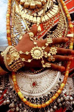 #Gold. #Bejeweled. Afar woman, Djibouti