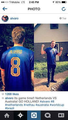 """Dj Alvaro wearing the 2014 World Cup Netherlands Away jersey with name """"ALVARO"""" and #8. Get your jersey at edmgears.com"""