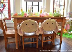 Decorate Chairs For Easter Children's Table
