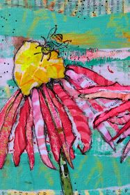These bloomed from Gelli printed papers!