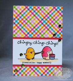 Lawn Fawn   Chirpy Chirp Chirp   Easter Card (Pink themed) For more information visit: handmadebytahlia.com