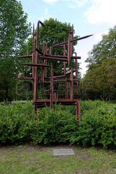 Poland sculptures in citadel park, poland.poznan