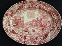 Johnson Bros. Historic America Red/Pink by TaylorAustinShop