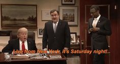 snl saturday night live donald trump ben carson bobby moynihan darrell hammond jay pharoah live from new york live from new york its saturday night its saturday night trending #GIF on #Giphy via #IFTTT http://gph.is/1Xbol3J