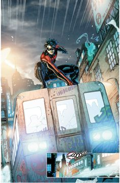 Nightwing supporting public transportation