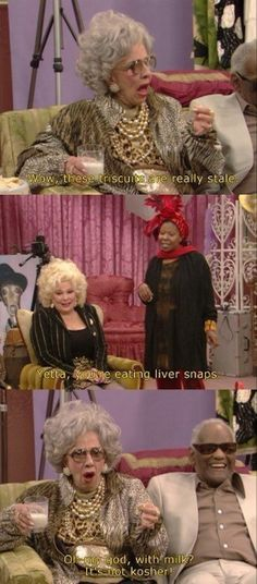 She always knew what was important to her: | 16 Reasons Why Grandma Yetta Had The Most Swag In The Fine Family