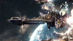 Warhammer 40k: Space Marine Battle Barge - Spacedock