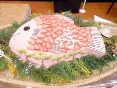 「めで鯛ケーキ」 Event Decor, Wedding Cakes, Wedding Decorations, Birthdays, Food And Drink, Birthday Cake, Cooking Recipes, Christmas Tree, Sweets