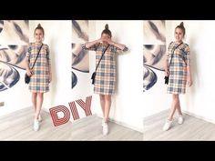 МК Трикотажное платье со спущенным плечом за 30 минут  TIM_hm  - YouTube