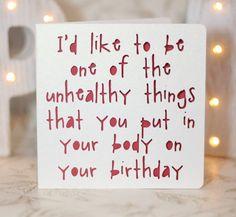 Cards for boyfriend, boyfriend birthday, anniversary sexy birthday card
