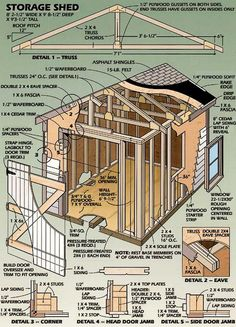 How To Build A Potting Bench Diy Storage Shed Plans, Storage Building Plans, Wood Shed Plans, Building A Shed, Built In Storage, Coop Plans, Storage Sheds, Building Design, Building Ideas