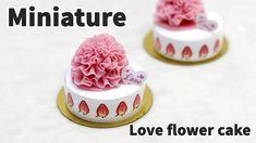 미니어쳐 러브 플라워 케이크 만들기 (파리바게트) - Miniature cake