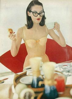 Vogue, 1956 - from the neck up she's all hipster!