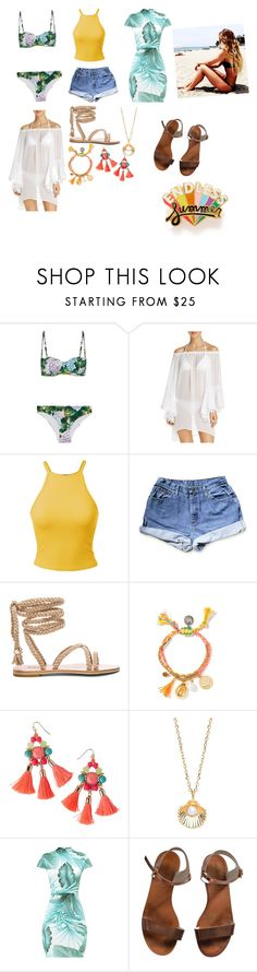 """Summer vacation station"" by lhickey ❤ liked on Polyvore featuring Dolce&Gabbana, BLEU Rod Beattie, Lilly Pulitzer, Estella Bartlett, Emporio Armani and ban.do"