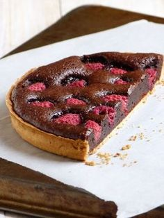 Chic, chic, chocolat...: Tarte au chocolat et framboises