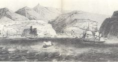 Depiction of Valparaiso harbor, early 19th century. #Chile #Valparaiso