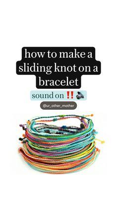 Diy Crafts For Girls, Diy Crafts To Do, Diy Crafts Jewelry, Bracelet Crafts, Diy Arts And Crafts, Cute Crafts, Diy Friendship Bracelets Tutorial, Diy Bracelets Easy, Bracelet Tutorial