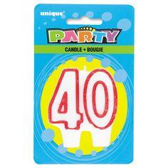 ¿Qué es un cumpleaños sin una tarta con vela? Vela 40, de www.fiestafacil.com - €1,25 / What's a birthday without a cake and candle? From www.fiestafacil.com