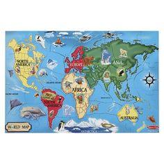 Melissa and Doug world map puzzle for Montessori classroom