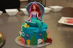 Ariel Little Mermaid Cake Tutorial with step by step video by Ann Reardon of How To Cook That #annreardon #arielcake #birthday