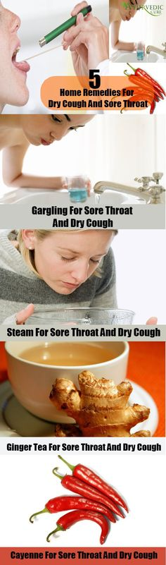 5 Home Remedies For Dry Cough And Sore Throat