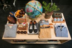 Display inspiration at Dockers General Store New York. #retail #merchandising #display