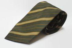 A XLONG Men Necktie   Classic Cravat Charm Tie  Color : Green orange stripe  100% Polyester  Quantity : 1 Pc.