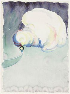 Georgia O'Keeffe. Train at Night in the Desert. (1916)