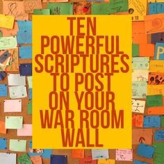 Want to wage war on your knees? Here are 10 powerful Scriptures to post on your…
