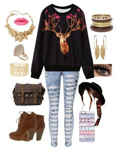 """""""Oh Deer"""" by lrochelle4life on Polyvore featuring WithChic, Casetify, ASOS, Oscar de la Renta, Topshop, Charlotte Russe, women's clothing, women's fashion, women and female"""