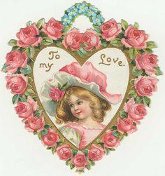 """""""To My Love"""" ~ Vintage Valentine Valentine Images, Vintage Valentine Cards, Vintage Greeting Cards, Vintage Holiday, Valentine Day Cards, Valentine Crafts, Vintage Postcards, Vintage Images, Valentine Ideas"""