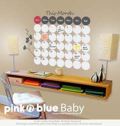Dry Erase Wall Calendar : Dry Erase Vinyl Decal