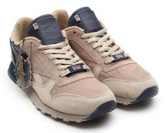 Reebok CL LEATHER LUX FRANK THE BUTCHER [BAU/KHAKI/OYSTER/ATHLETIC NAVY] V47584