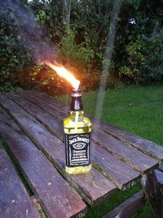 Jack Daniels burner (inspired by tjesse's Glass Bottle Tiki Torch)