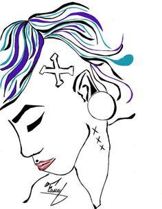 aliz la de los huecos #myart #vector #color #girl #alternative #cover