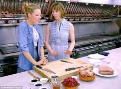 Blake Lively demonstrates mean cooking skills for Vogue's new cooking series Electra's Goodness.