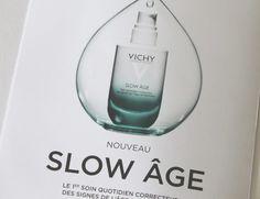 Papillons d'Onyx: [Beauty] Avec Slow Âge de Vichy, la trentaine se f... Slow, Age, Signs, Perfume Bottles, Beauty, Gingham, Papillons, Shop Signs, Perfume Bottle